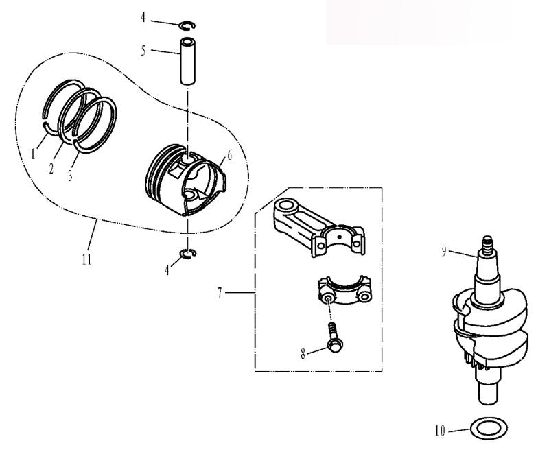 поршневая на лодочный мотор парсун
